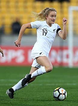 Olympian footballer Paige Satchell, a current Academy of Sport member