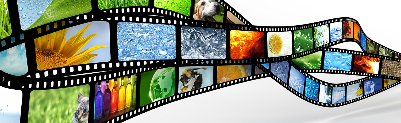 Film strip of random images